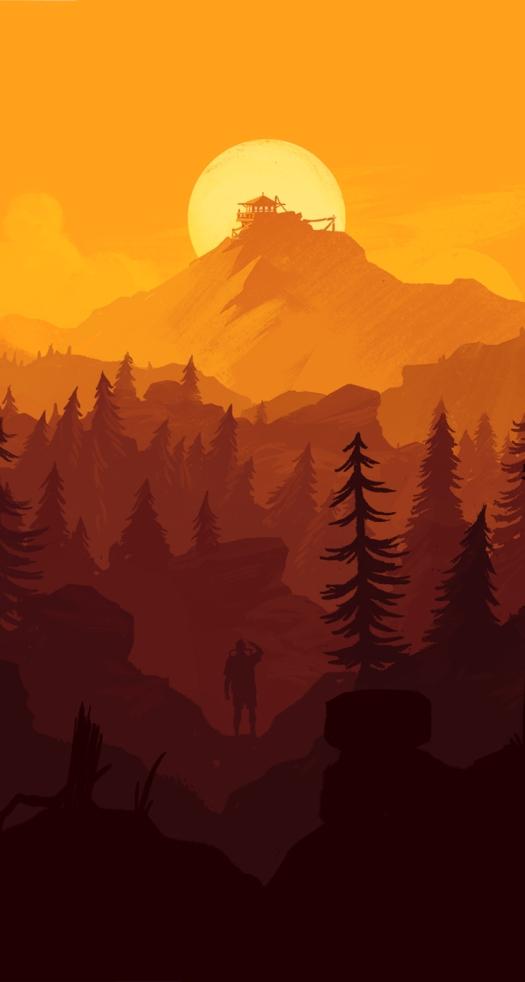 Firewatch-iPhone-Wallpaper-orange